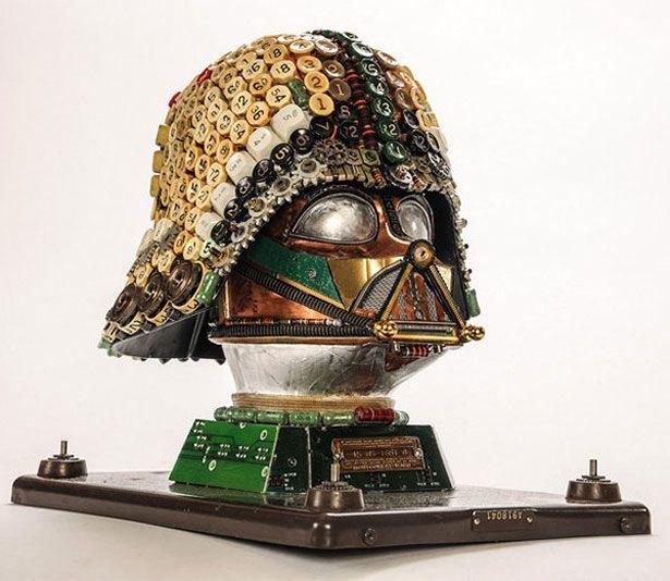 Casco de Darth Vader hecho con objetos reciclados | AP-Proyecto de ...