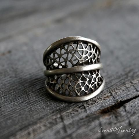 Dru Silver Tribal Ring