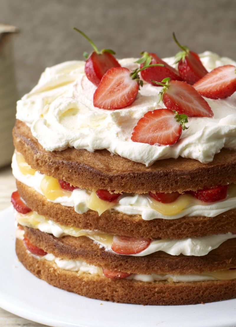 Cricket Cake With Strawberries And Lemon Curd Recipe Cricket