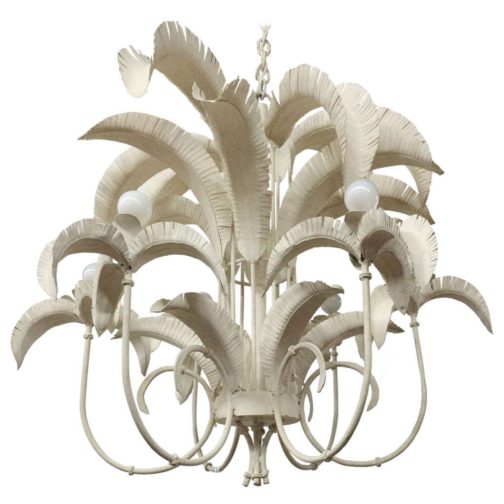 Faux bamboo palm tree chandelier palm fronds bamboo palm and faux bamboo palm tree chandelier 1stdibs arubaitofo Images