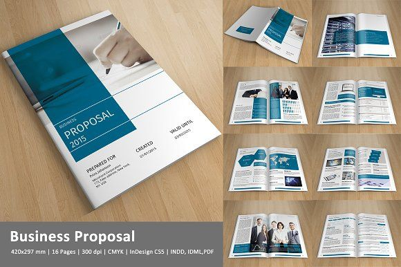 Indesign Business ProposalV By Template Shop On