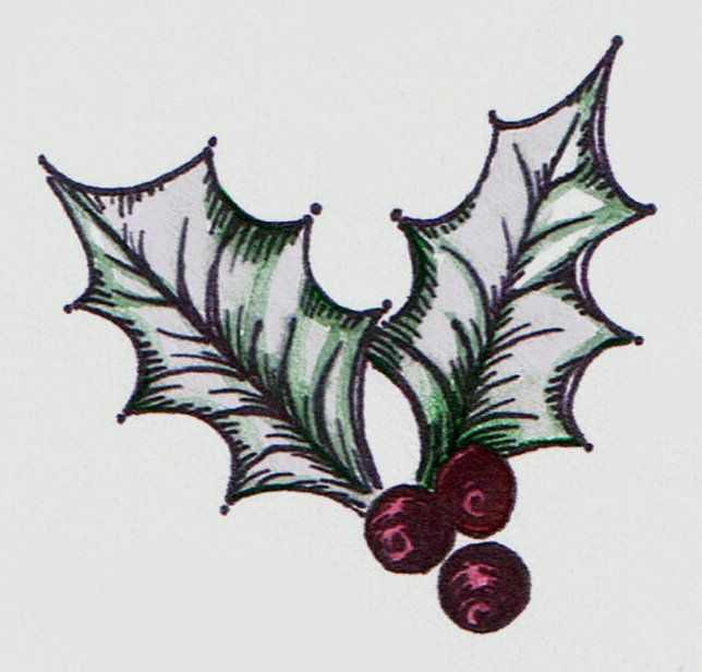 Lilac  Lavender Christmas Holly ink Pinterest Tattoos