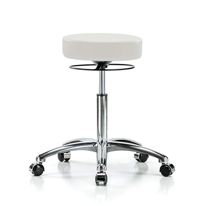 Superb Perch Chrome Stella Rolling Height Adjustable Salon Spa Inzonedesignstudio Interior Chair Design Inzonedesignstudiocom