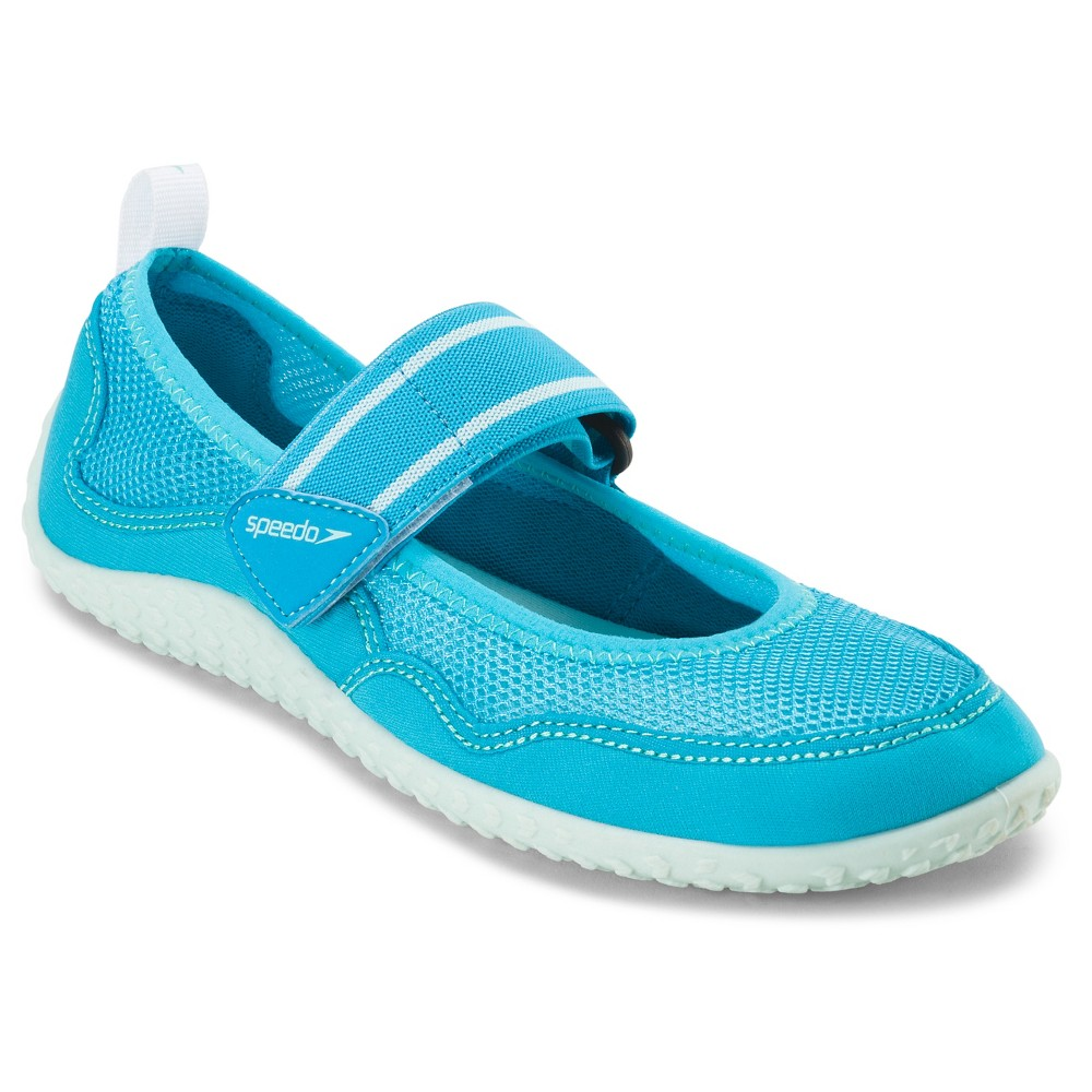 1316a61b47d3 This all-terrain water shoe combines durable construction with a fun  feminine Mary Jane silhouette. Cool breathable mesh upper features  quick-adjusting ...