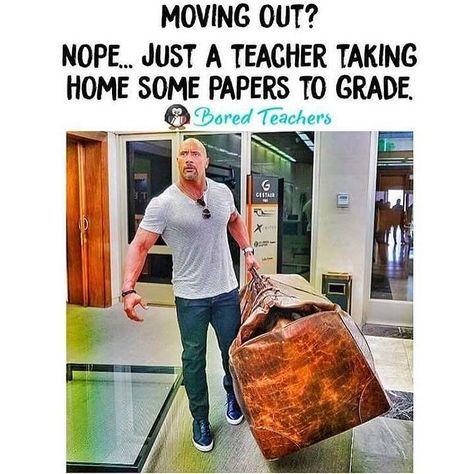 A Teacher S Face When Taking Home Some Papers To Grade Teacher Memes Funny Teacher Humor Bored Teachers