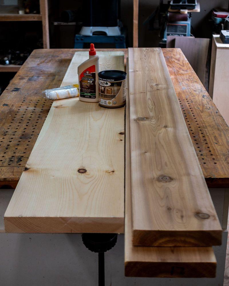floating pine and cedar corner desk furniture building and rh pinterest es