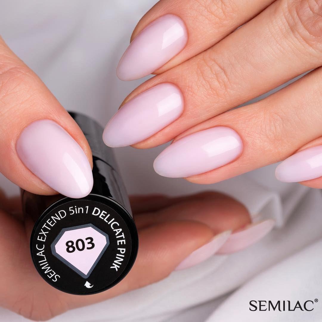 Semilac On Instagram Nasza Nowosc Czyli Semilac Extend 5w1 Delicate Pink 803 W Pelnej Okazalosci Jak Wam Sie Podoba Pink Nails Fashion Nails Manicure