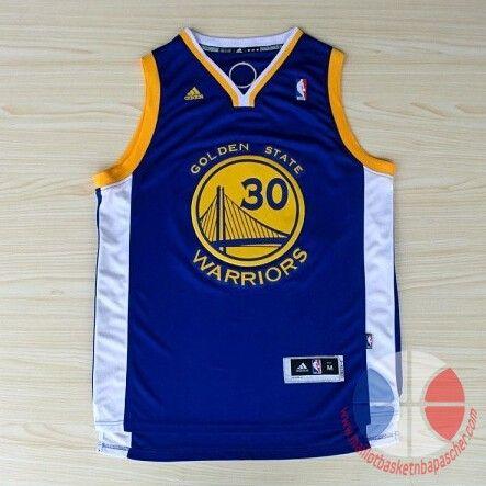 maillot basket nba Golden State Warriors Curry #30 Bleu