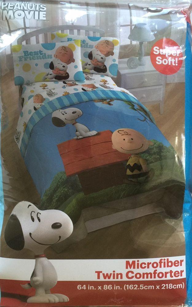 Snoopy Peanuts Movie Comforter Microfiber Twin Charlie Brown Best Friends New Jayfrancosons