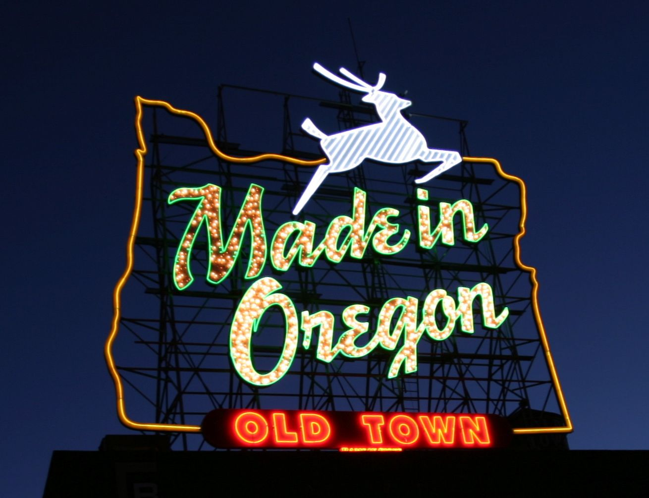 Pacific northwest The vintage White Stag sign