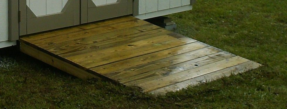 shed ramp (With images) Storage shed ramp ideas, Shed