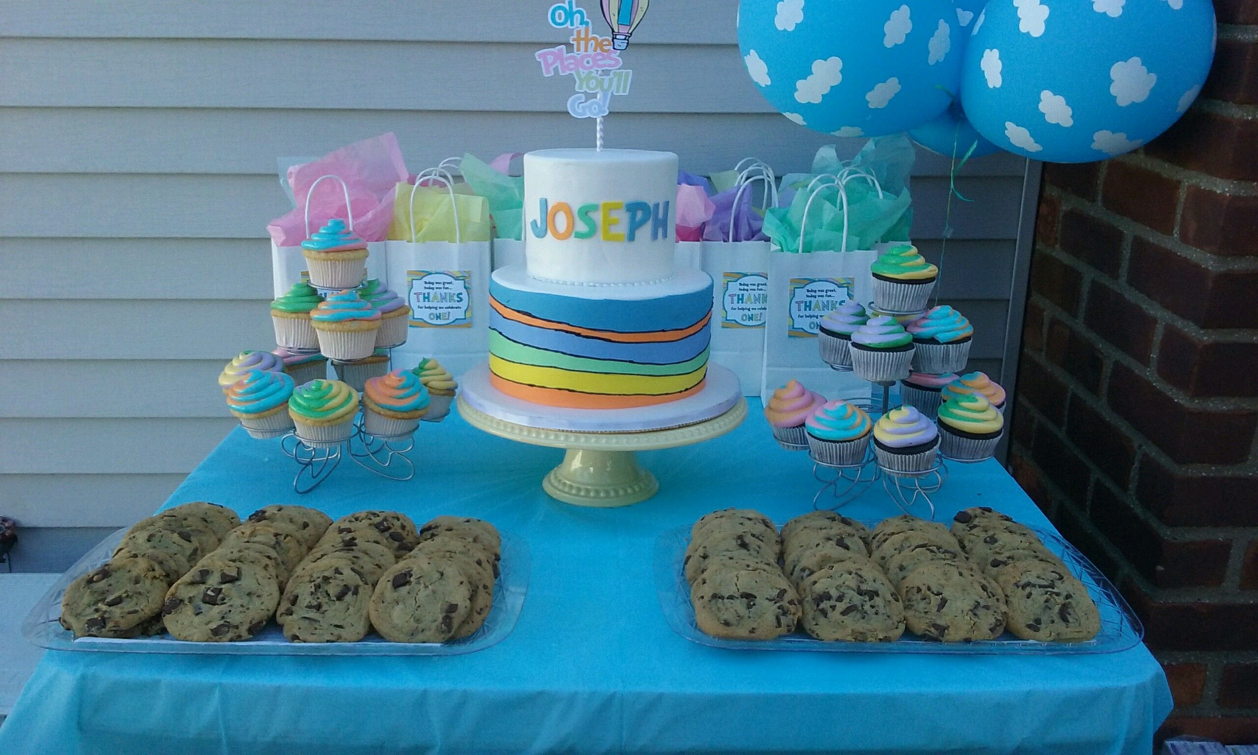 Oh The Places You Ll Go 1st Birthday Party Cake Table For Our Baby