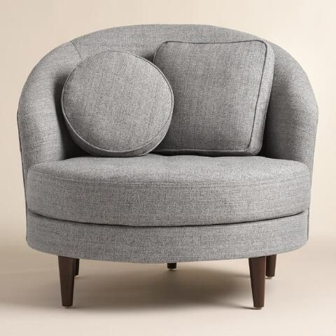 Superieur In A Round, On Trend Shape, Our Chair And A Half Makes A Mid Century Style  Statement As Big As Its Oversized Seat. Woven Two Tone Upholstery Covers  This ...