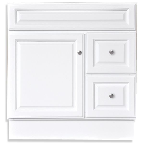 Bargain Outlet In Schenectady 189 Harbor White 30x21 Two Drawer Single Door