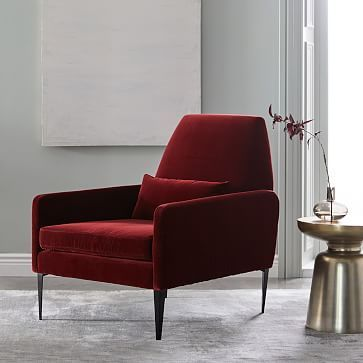 Smythe Velvet Chair Westelm Accent Chairs For Sale