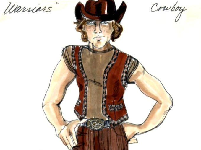 Original costume design for Cowboy by Bobbie Mannix and Mary Ellen Winston