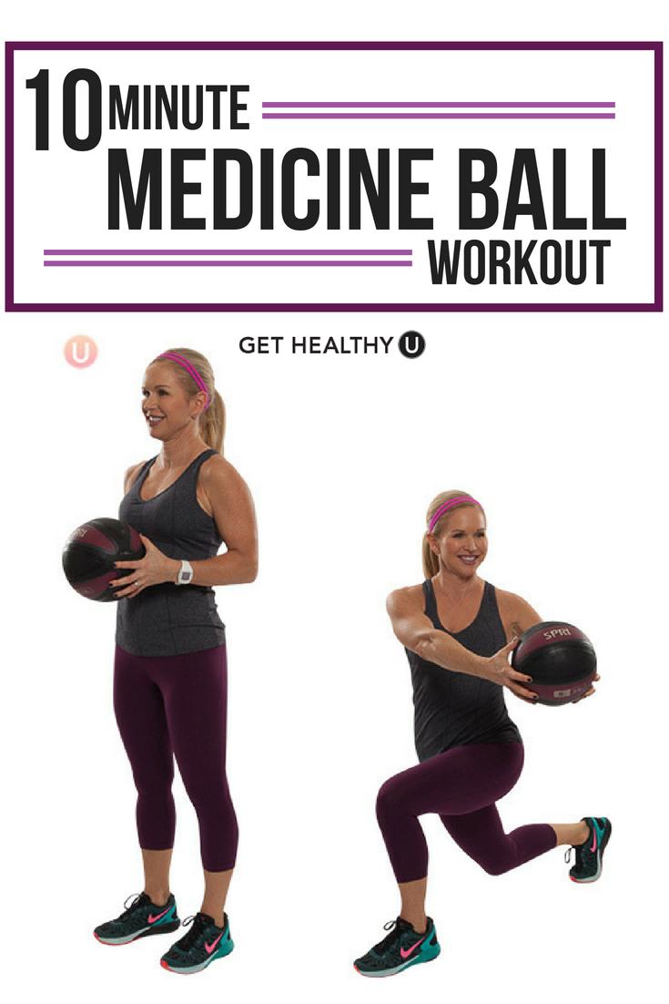 Watch Low Impact Medicine Ball Circuit Workout video