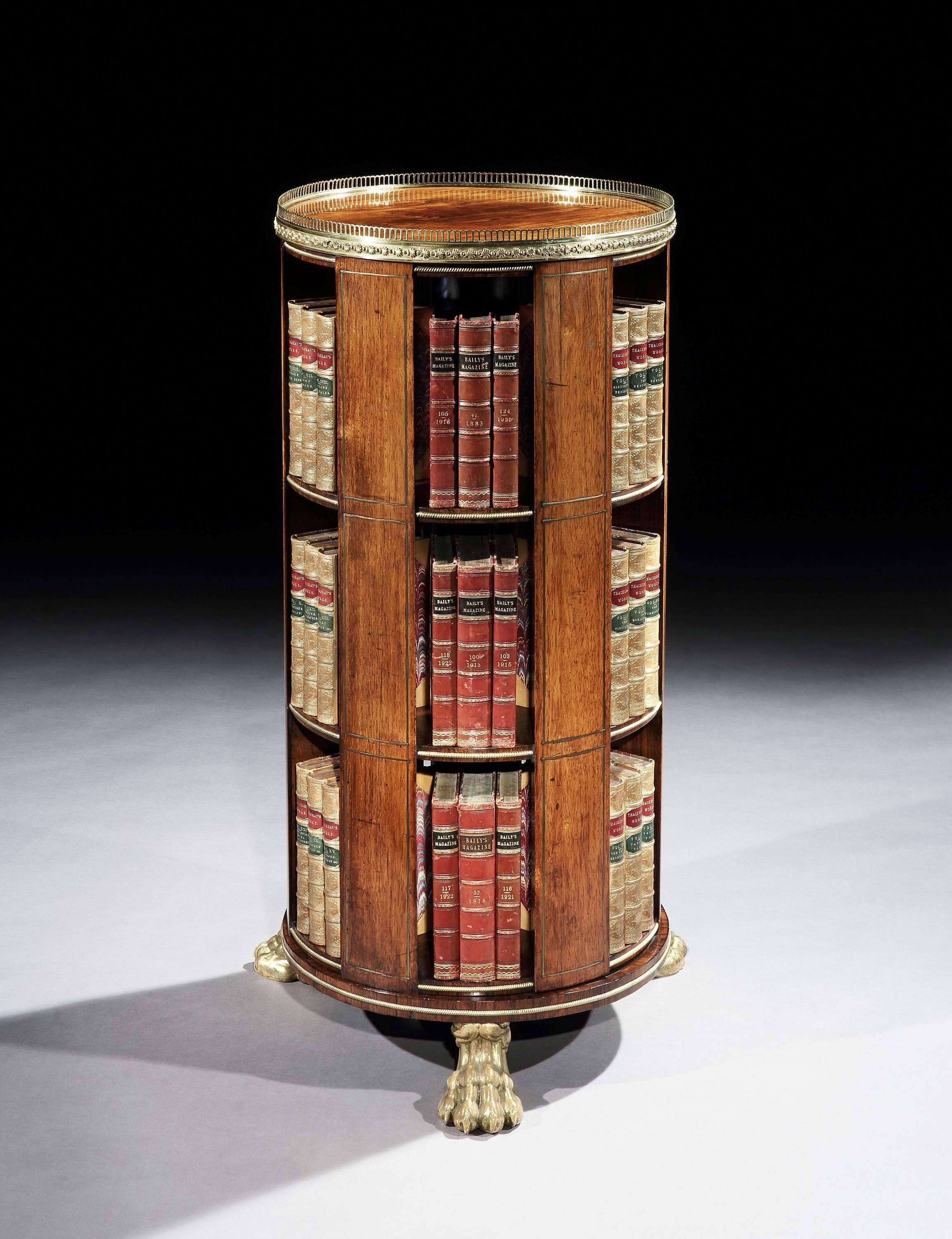 a regency brass mounted rosewood revolving bookcase buyinglist rh pinterest com