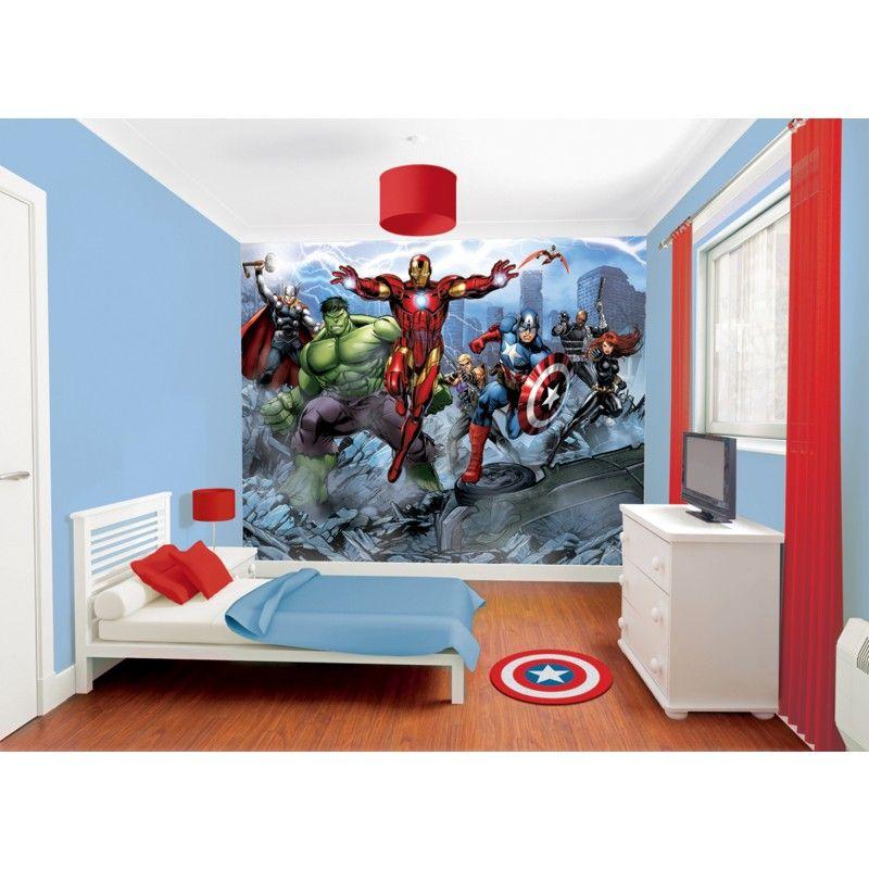 marvel avengers assemble wallpaper mural avengers room avengers rh pinterest com