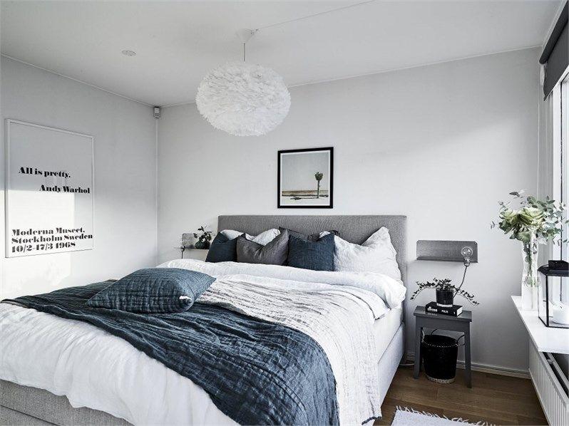 Une Maison Familiale En Noir Et Blanc Chambre A Coucher Bleu