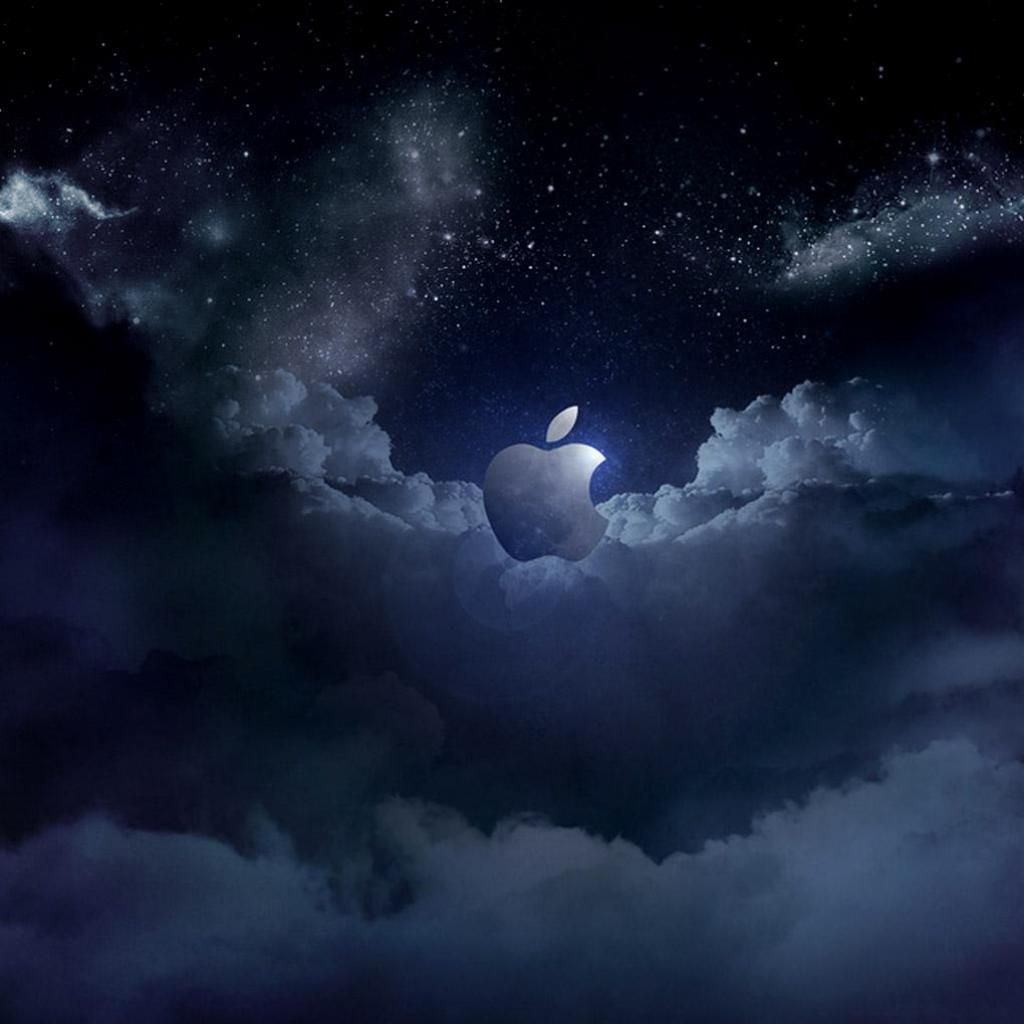 Cloudy Apple Logo Wallpapers IPad Backgrounds Apple