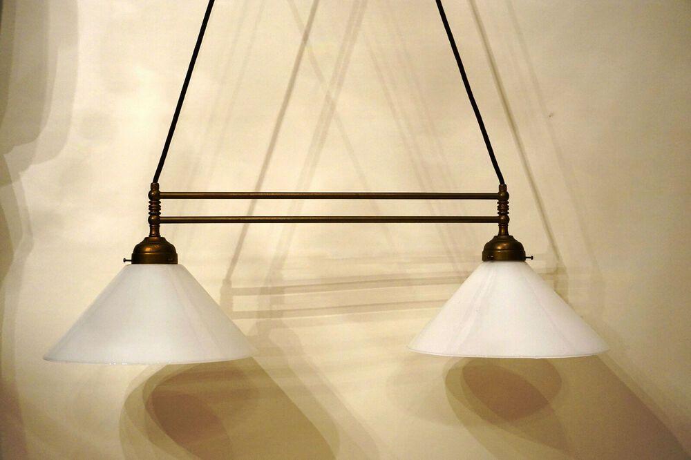 Art Deco Bauhaus Stil Deckenleuchte Lampe Messing