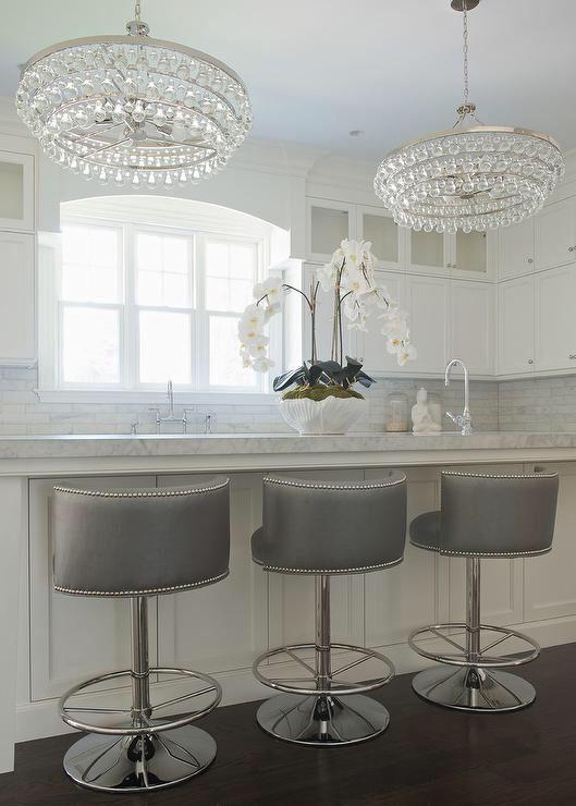 gray-swivel-barrel-back-counter-stools-silver-nailhead-trim
