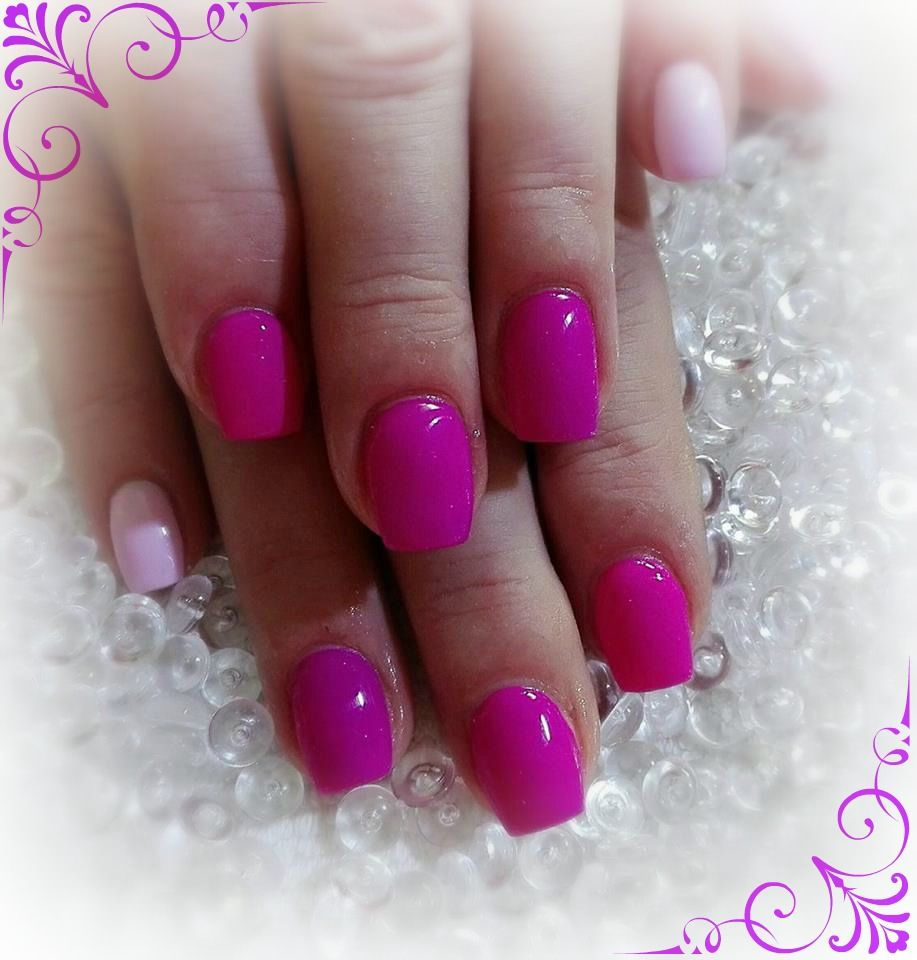 neon pink nails | nehty | Pinterest | Neon pink nails and Neon