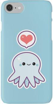 Photo of 'Cute Blue Octopus' iPhone Hülle von Sugarhai, #blue #case #Cute #iPhone #Octopus #octopustatt …