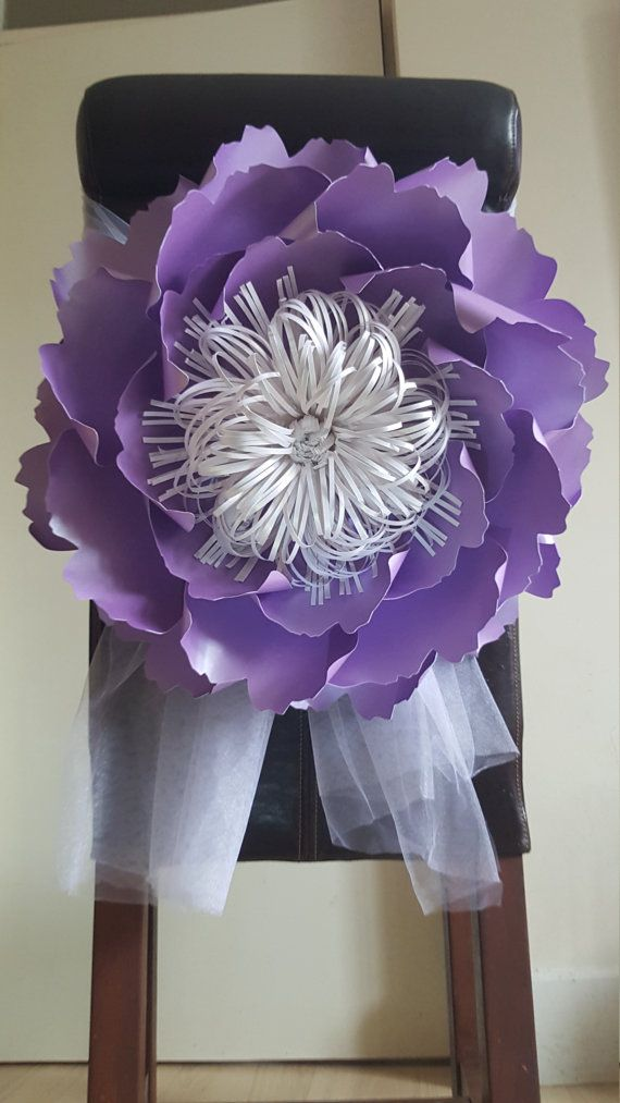 Giant Paper Flower Decoration Purple Table And Chair Decorations