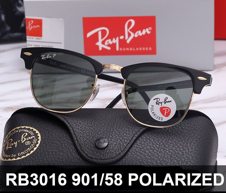 bceaaa830f Ray Ban Polarized Sunglasses Club Master RB 3016 901 58 Classic G-15 Lens