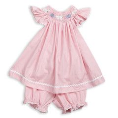 Swoon! Love this Pink Microcheck Bunny Egg Smock Flutter Set I discovered at lollywollydoodle.com and for only $40! Click the image above and receive $5 off on your next order!