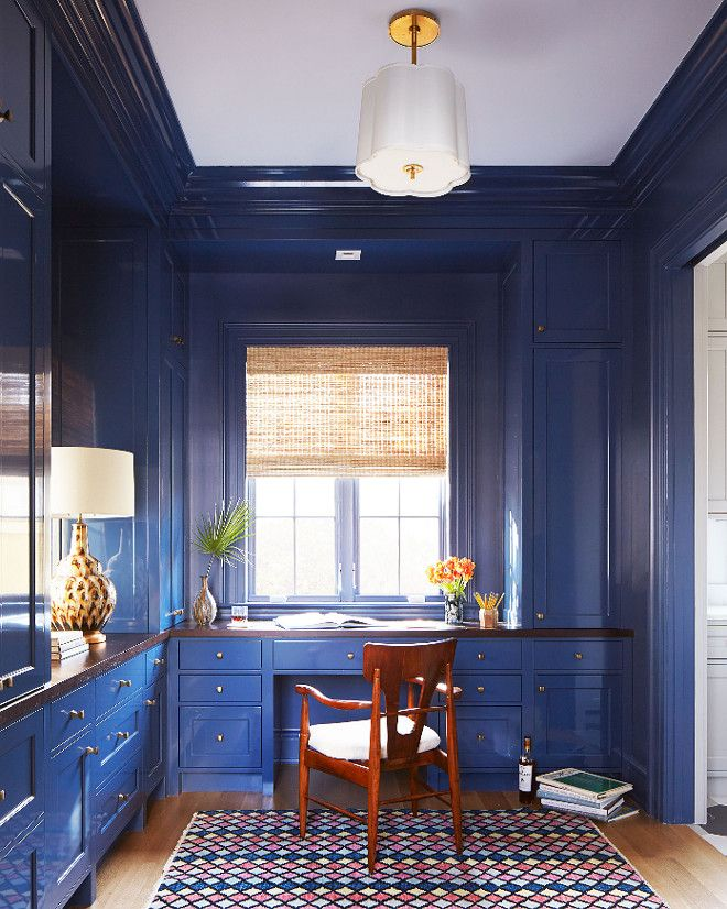 blue lacquered cabinet paint color benjamin moore 840 kensington rh pinterest com