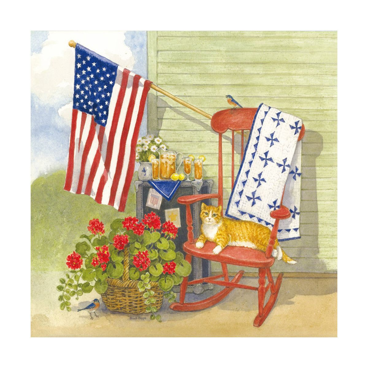 Countryside style flower wall painting decoration painting scenery ...