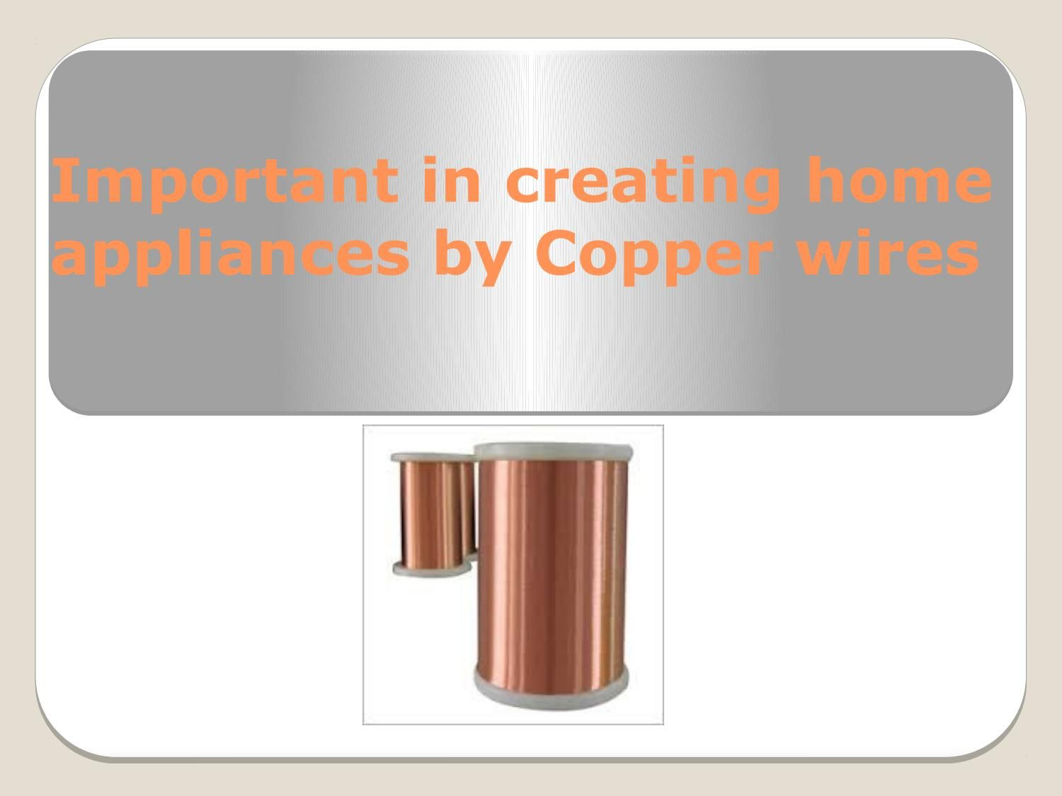 important in creating home appliances by copper wires copper wire rh pinterest com