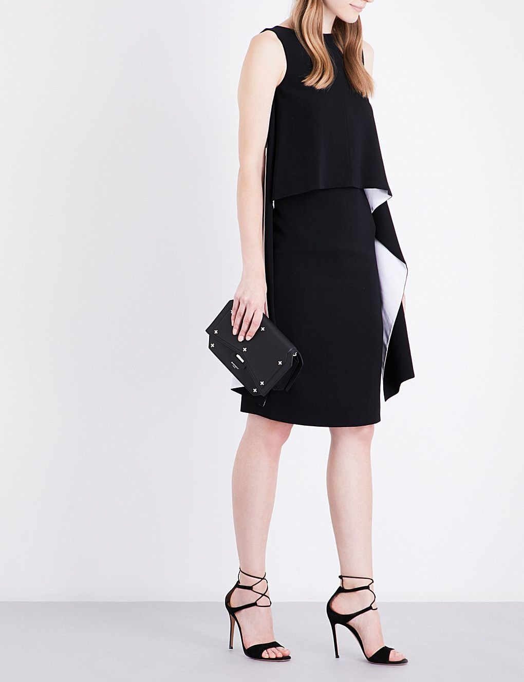 c310668222 GIVENCHY - Panel-overlay stretch-crepe dress