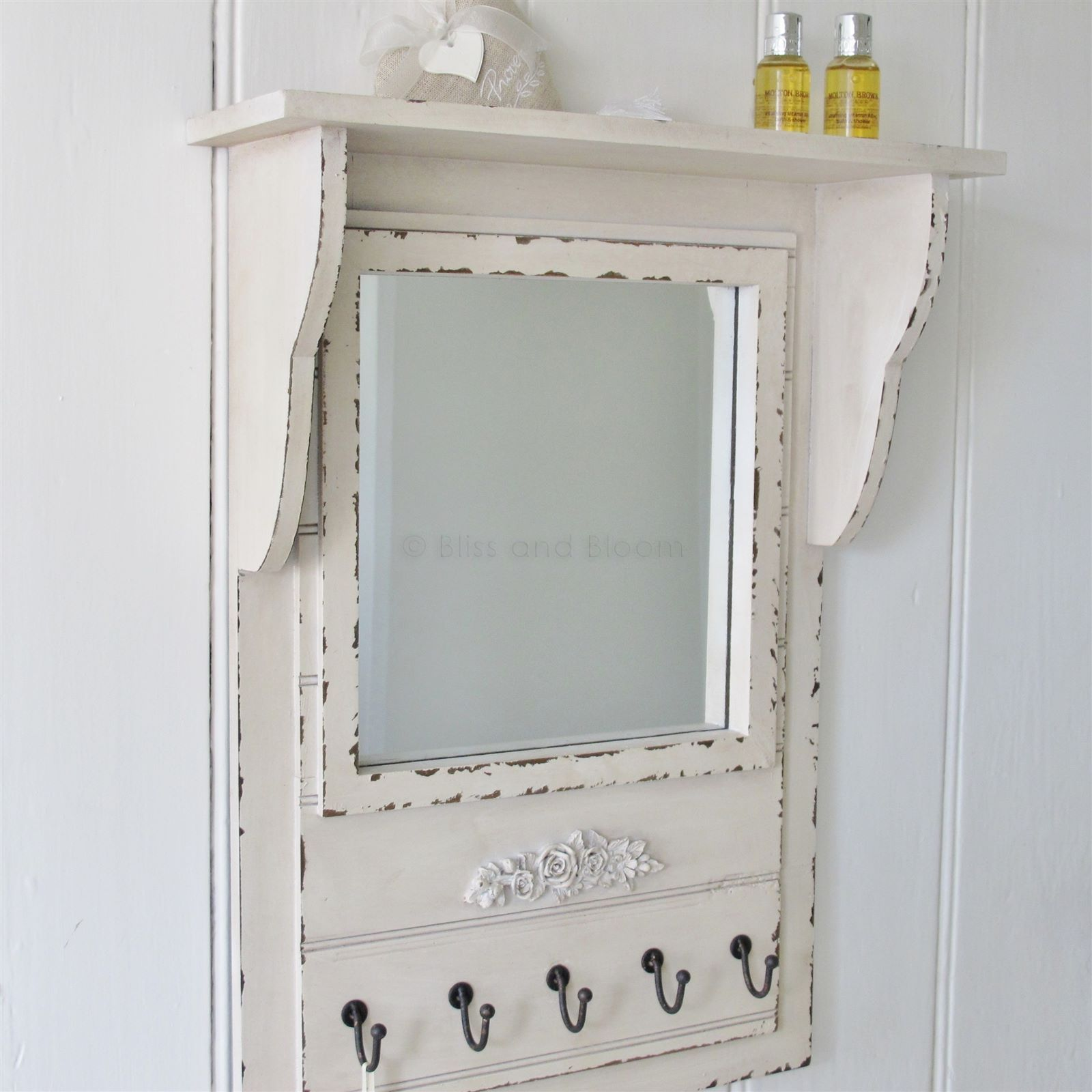 wall mirror shelf hooks bliss and bloom ltd home decor wall rh pinterest com