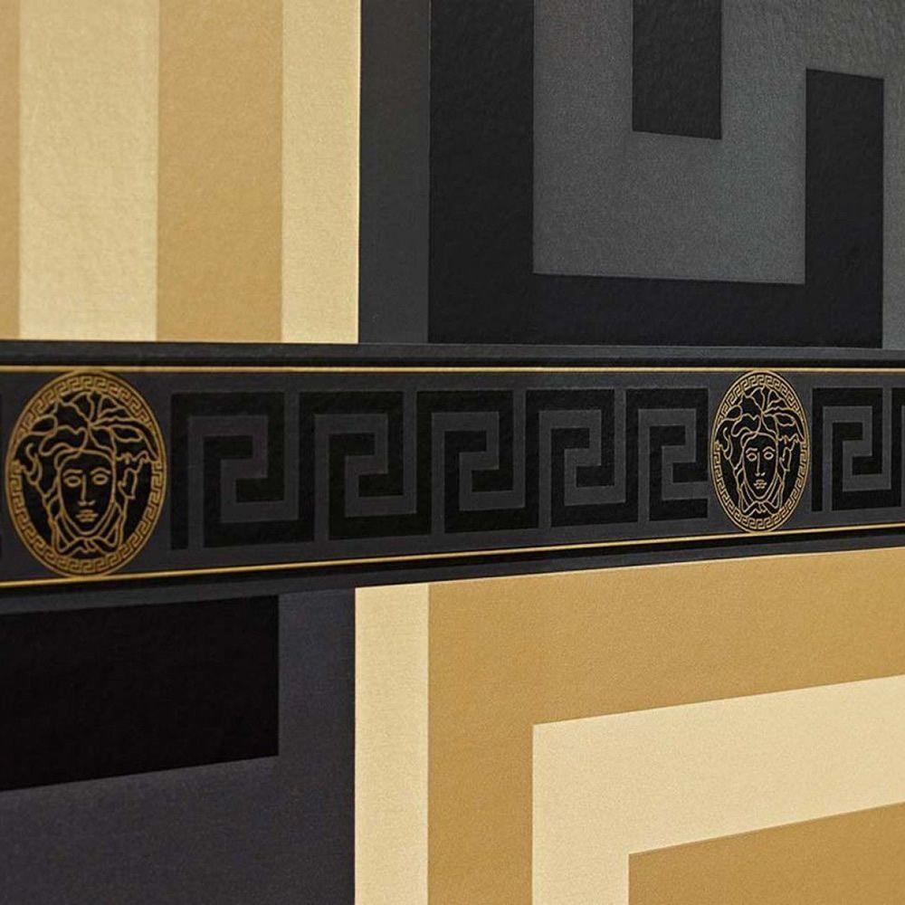 Versace Black Greek Key Border 935224 in 2020 Greek key