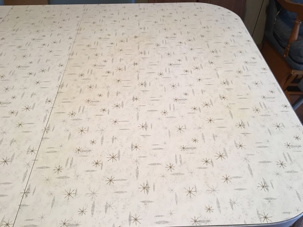 walter of wabash vintage formica table silver w 6 retro chairs in rh pinterest com