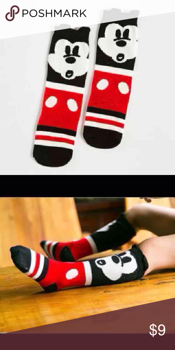 63403e56445 New toddler knee high socks Adorable Mickey Mouse knee high toddler socks!  One size Tags
