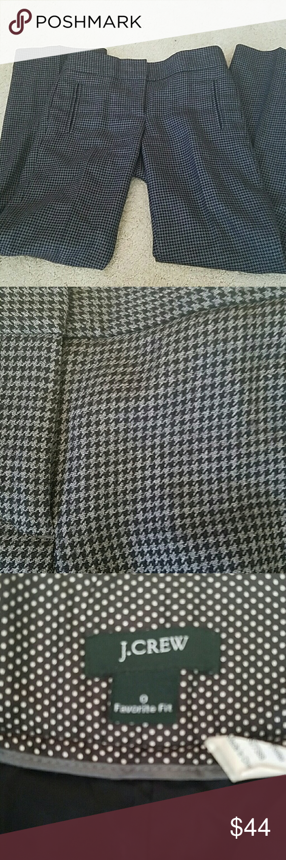 """J.crew wool gingham trousers sz0 Perfect condition, lined, classic! A bit too short on me. 15"""" waist 32""""inseam. J. Crew Pants Boot Cut & Flare"""