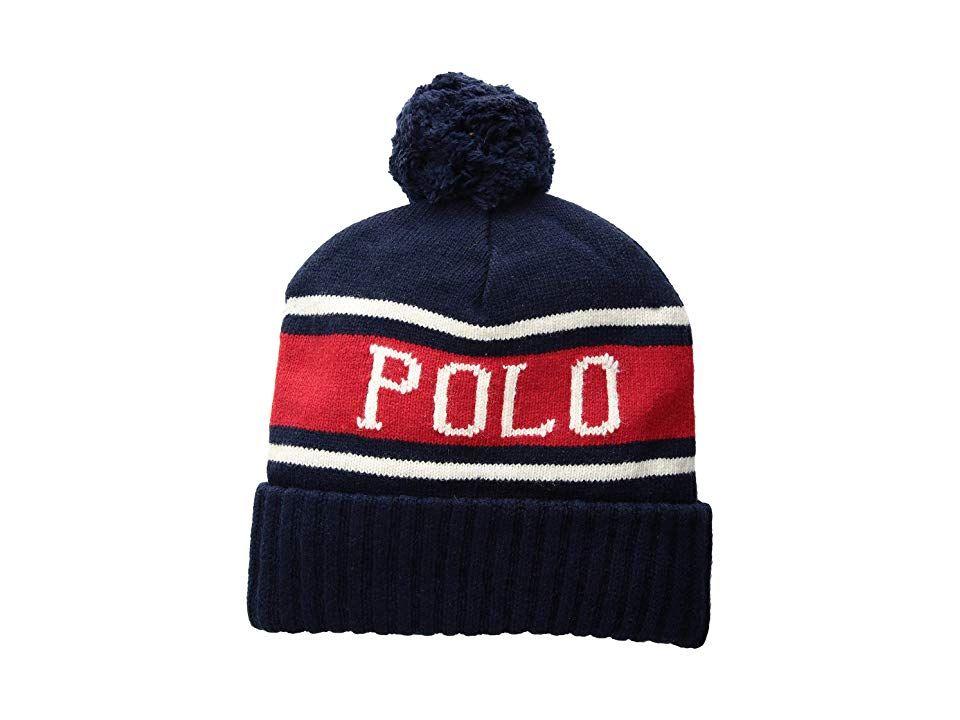 42ec9e21769b6 Polo Ralph Lauren Polo USA Stadium Hats (Navy Multi) Beanies. Spend your day