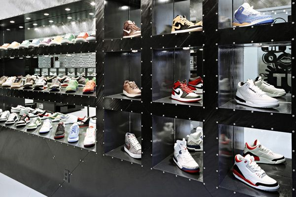 922d17da1af Sneaker store in Melbourne by March Studio features tunnel interior ...