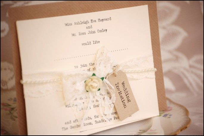 Vintage Looking Wedding Invitations