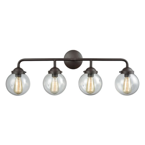 elk lighting beckett 4 light vanity light clear products rh pinterest co uk