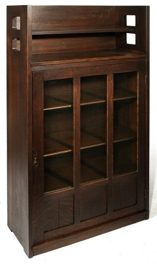 limbert early cut out single door bookcase gallery top adjustable rh pinterest com