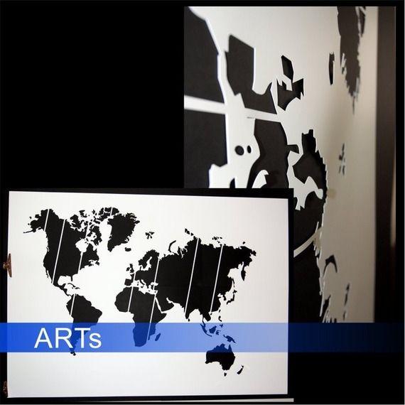 Pochoir Pour Peindre Carte Du Monde 75x120cm 119x Pour Peindre
