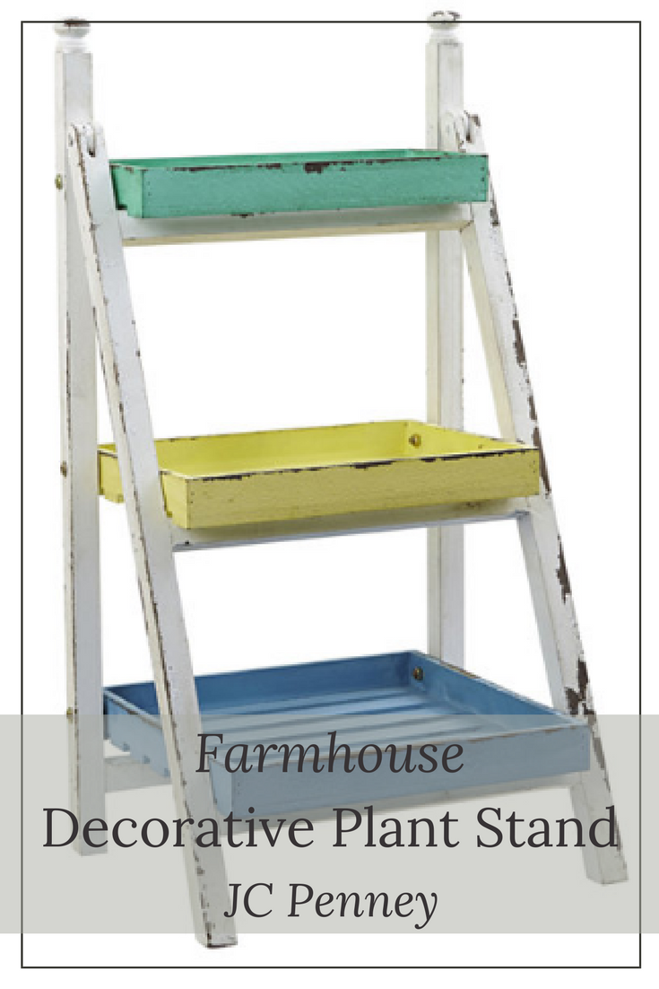 Use this farmhouse plant stand to display flowers on your front