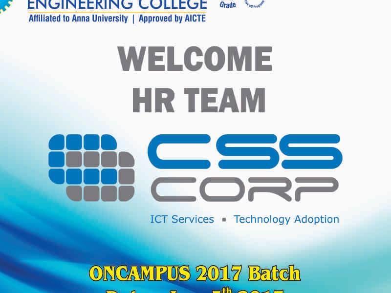 CSS CORP WELCOME HR TEAM | Saveetha Engineering College