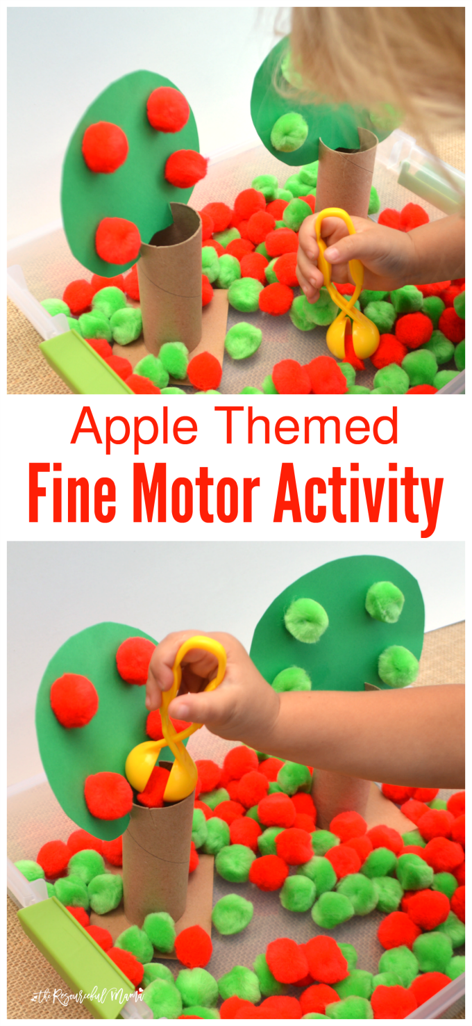 Apple Themed Fine Motor Activity | Preschool apple theme ...